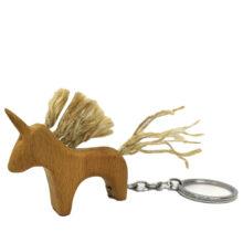 جاکلیدی چوبی طرح اسب تک شاخ مدل KU1