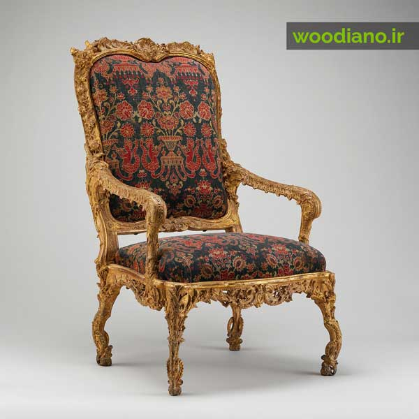 صندلی کلاسیک فرانسوی به سبک مبلمان لویی چهاردهم
