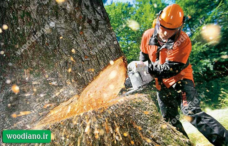 دستگاه برش درخت (اره موتوری بنزینی)
