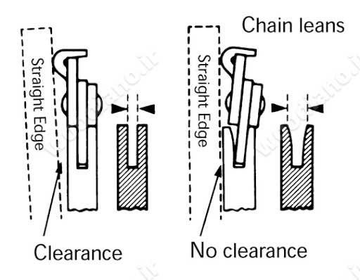 اصطکاک بین اره و ریل دستگاه اره زنجیری