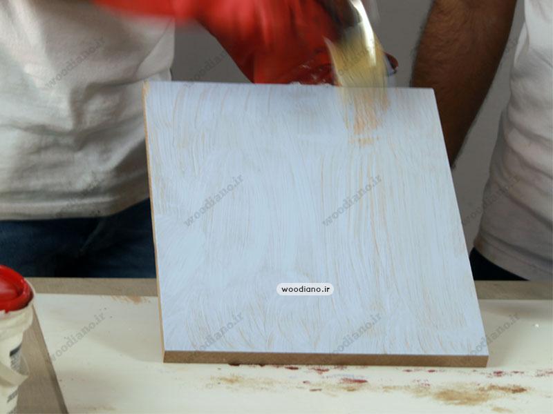 آموزش تغییر رنگ چوب به سفید
