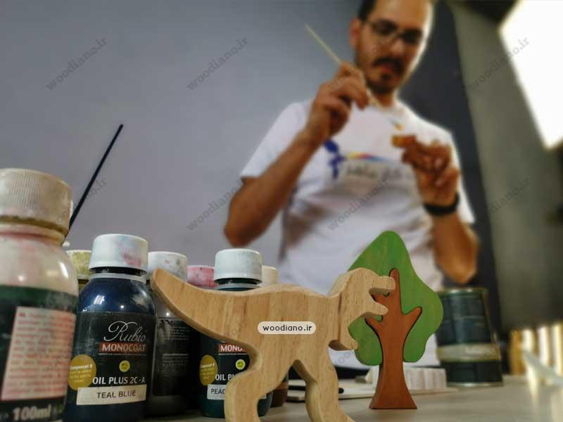 رنگ های سالم و بی ضرر مخصوص اسباب بازی های چوبی