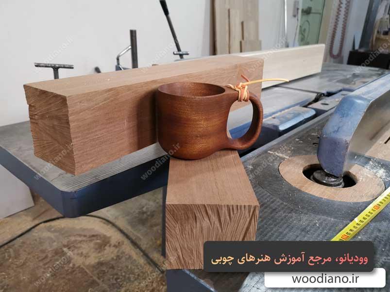 ساخت لیوان چوبی دست ساز