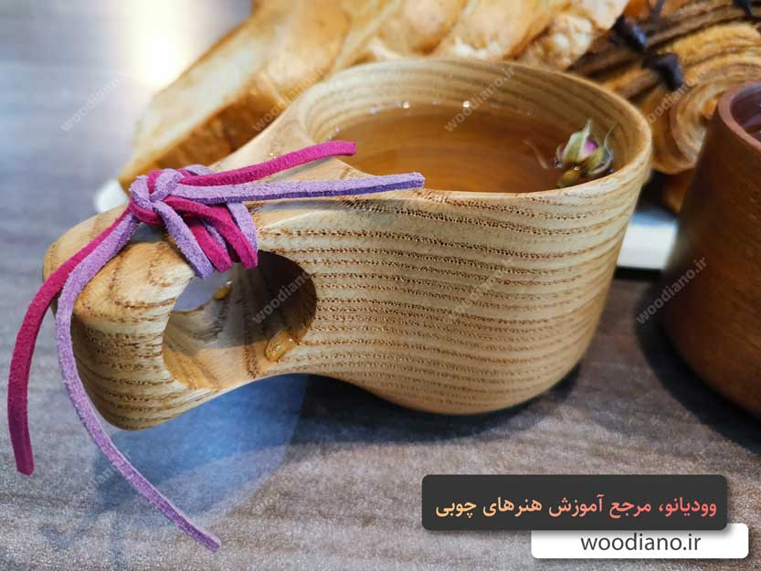 خرید لیوان چوبی زیبا