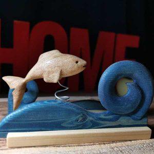 ساخت ماهی چوبی