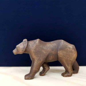 خرس چوبی قهوه ای