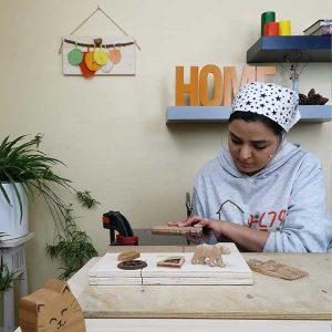 مهدیه پور مهران, کار در خانه وودیانو