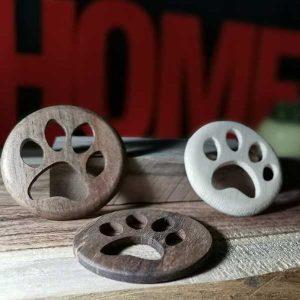 ساخت رد پای سگ چوبی
