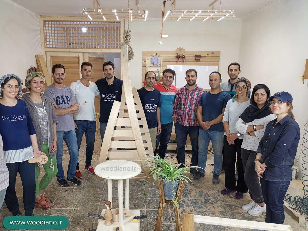 کلاس های پیشرفته آموزش هنرهای چوبی وودیانو - پاییز 98