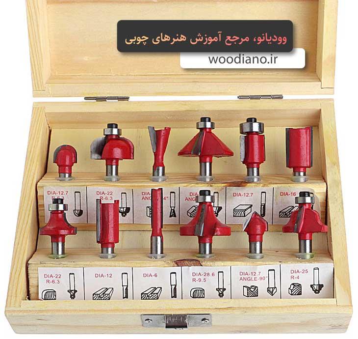 انواع تیغ اور فرز در هنرهای چوبی